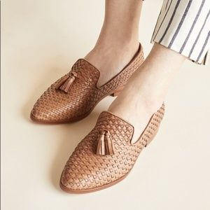 NISOLO Frida woven slip-on smoking loafer